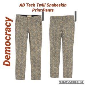 Democracy AB Tech Twill Snakeskin Print Jeans